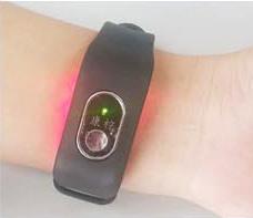 лазерный прибор на руке